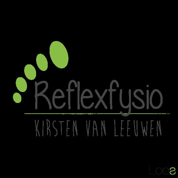 ontwerp logo reflexfysio fysio therapie voetdeflexie kirsten van leeuwen reeuwijk