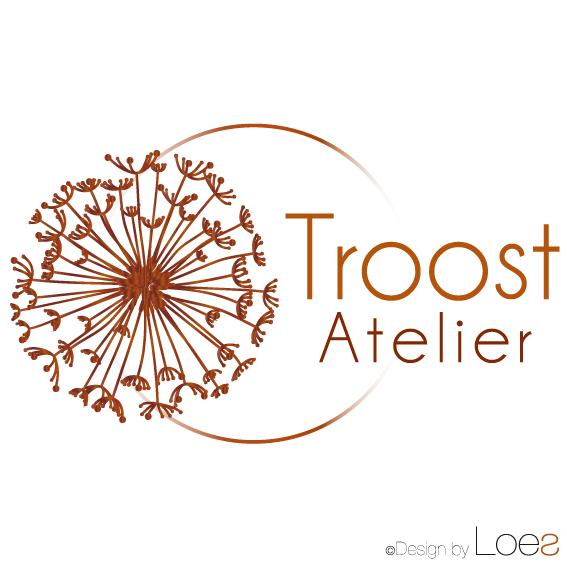 ontwerp logo troostatelier rouwwerk bloemen alphen aan den rijn