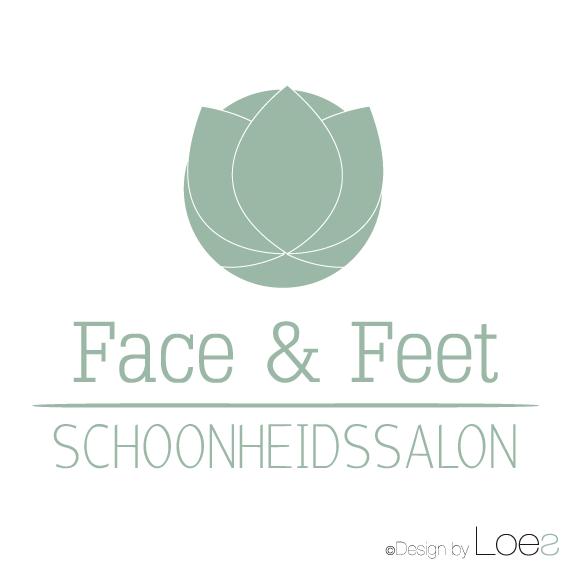ontwerp logo face and feet schoonheidssalon pedicure zwammerdam